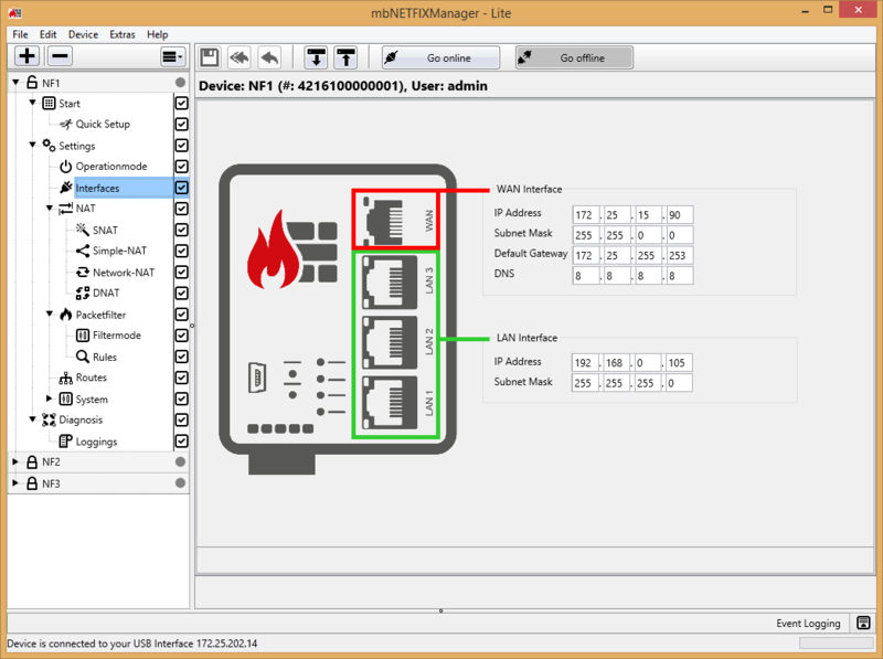 mbNETFIX Lite Manager screenshot Interfaces