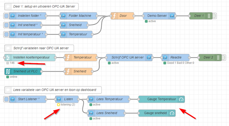 Applicatie Secure IoT Flow OPC UA