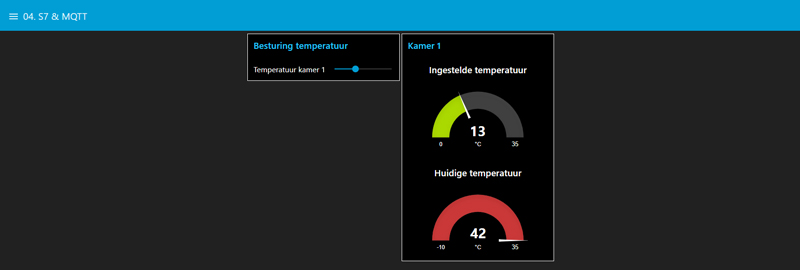 Applicatie Secure IoT MQTT Dashboard