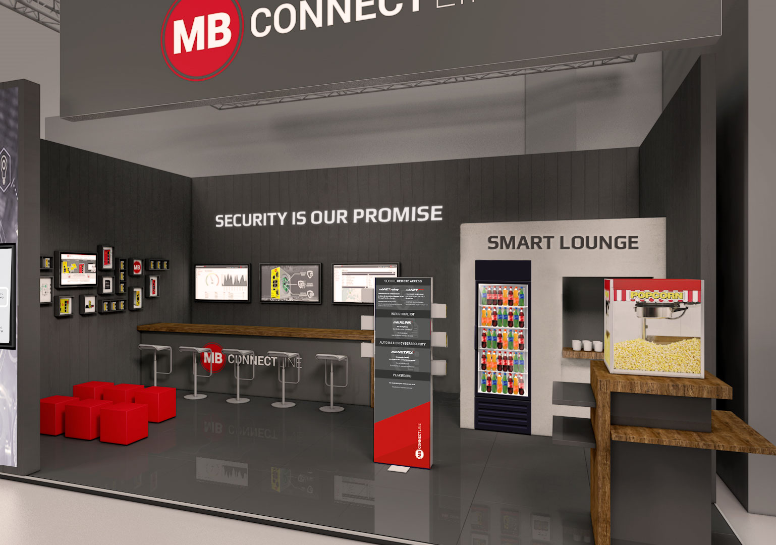 Booth Design 2019 MB connect line Smart Production Solutions