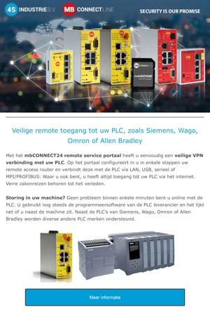 Nieuwsbrief 2020 08 - Veilige remote access tot uw PLC